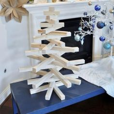 DIY Modern Wooden Christmas Tree | The Design Confidential