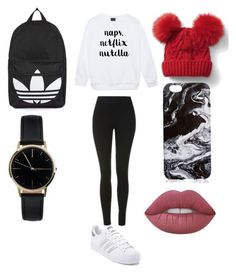 """Naps, Netflix, Nutella"" by sophievanderkooy on Polyvore featuring Topshop, adidas, Gap, Lime Crime and Freedom To Exist Lime Crime, Nutella, Netflix, Gap, Freedom, Topshop, Adidas, Shoe Bag, Polyvore"