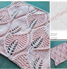 Lace Knitting Patterns, Knitting Stiches, Knitting Charts, Lace Patterns, Knitting Designs, Baby Knitting, Crochet Baby, Stitch Patterns, Knit Crochet