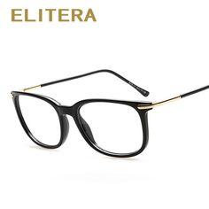 ddeb0b21cb3b ELITERA Brand Designer Fashion Plain Glasses Optical Frame Clear Lens  Spectacle Eyeglasses