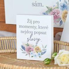 Dárkový blok - Žij pro momenty. Place Cards, Pastel, Place Card Holders, Flower, Flowers, Color Palettes