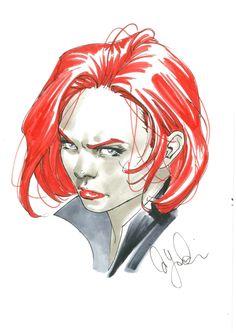 Black Widow - David Yardin Comic Art
