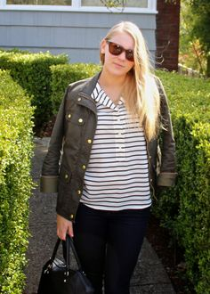 Current Habits   striped blouse   #outfit #look