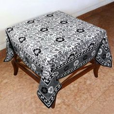 This is a 54 x 54 inch square tablecloth in good quality 200 thread count cotton fabric. Artisans of Jaipur have crafted these tablecloths in Indian floral themes and bright spring and summer colors. Both colors and the designs are very pleasing to the eyes. The colors do not bleed and the tablecloths can be washed in machines.