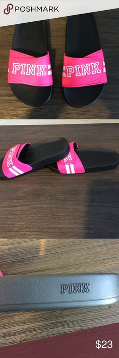 🌷Victoria secret Pink slides 🌷 There's a small mark on them other then that In good condition Victoria's Secret Shoes