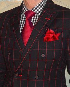 Custom DB window-pane suit, Tommy Hilfiger shirt, Hugo Boss tie