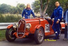 Count Alessandro Federico and his wife Alwine - 1988 Targa Florio historic (Source Forum-auto.com)