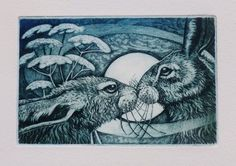 What connects Easter with a pagan goddess and this Hare etching? Louise Scott - In Her Element: Happy Eastre! Origins Of An Ancient Festival...