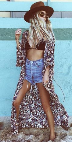 summer outfit bohemian girl