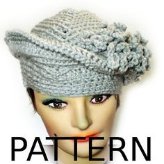 Crochet Hat Pattern Couture - 5 Hat Patterns - PDF DIY - Stylish Unique Unusual Fashion Winter Hat Winter Accessories. $24.00, via Etsy.
