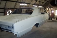 Silver GTO body before Paint.