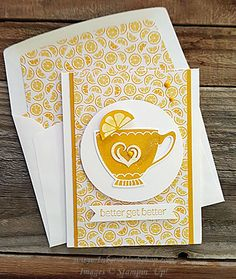 December 26, 2015 by Inkers: Lemon Or No Lemon - A Nice Cuppa, Cups & Kettle Framelits Dies, Have A Cuppa DSP, It's My Party Enamel Dots