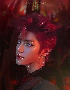 Digital Portrait, Portrait Art, Jaehyun, Handsome Anime Guys, Kpop Drawings, Nct Taeyong, Kpop Fanart, Boy Art, Art Inspo