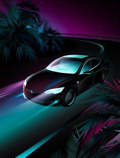 Tesla x Forbes Japan / Clément Dezelus Japan, Vehicles, Car, Illustration, Automobile, Illustrations, Japanese, Autos, Cars