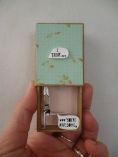 matchbox art 16 You Are Awesome, Diorama, Projects To Try, Diy, Messages, Scrapbook, Cute, Match Boxes, Creative