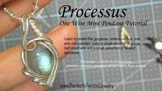 Wire Wrapping TUTORIAL - One Wire Mini Pendant. Learn to use Half Round... #PerfectlyTwistedJewelry #DIY #WireWrappedJewelry #Tutorials #PerfectlyTwistedJewelry #wireweavedjewelry #wirewraps #wirewrappedjewelry #artjewelry #uniquejewelry #jewelryartist #witchystuff #necklacelover #headywirewrap #ooakjewelry #talisman #amulet #elvenjewelry #jewelrydesigner #jewelryaddict #jewelryjunkie #trendyjewelry #wirejewelry #handmadeJewelry #fantasywirejewelry Wire Jewelry Designs, Handmade Wire Jewelry, Wire Tutorials, Jewelry Making Tutorials, Wire Wrapping Tutorial, Wire Wrapped Earrings, Wire Weaving, Mini Pendant, Jewelry Shop
