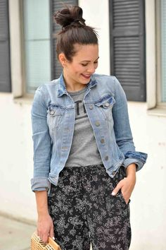 Jogger Pants For Spring - How to dress up joggers - My Style Vita @mystylevita