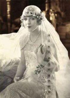 20s bride veil