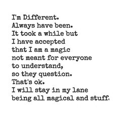 I will stay in my lane being all magical and stuff.