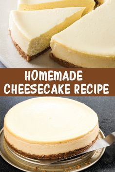 Quick And Easy Cheesecake Recipe, Baked Cheesecake Recipe, How To Make Cheesecake, Best Cheesecake, Homemade Cheesecake, Homemade Desserts, Easy Desserts, Delicious Desserts