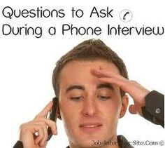 Questions during phone Interview