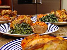 Roasted Cornish Game Hens from FoodNetwork.com