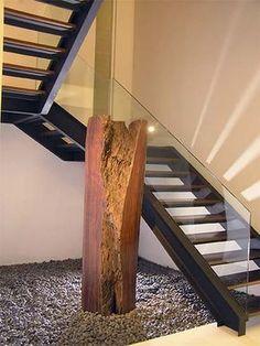 barandilla en vidrio para escalera interior
