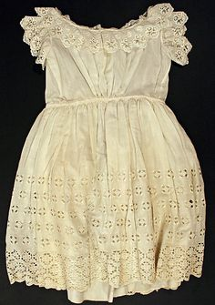 Girls Dress 1895, American, Made of cotton