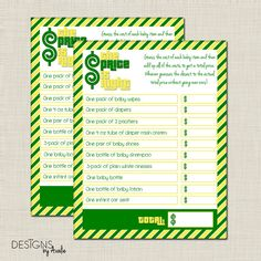 John Deere Price is Right Baby Shower Game by DesignsbyAvalie