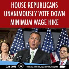 It is time they lived on a minimum wage--paid per hour they actually work. Time clock and all. No paid lunch. And no sneaking into the lobby money they got, since so very many of them mysteriously became millionaires while in Congress. Then let's see how they feel about minimum wages.