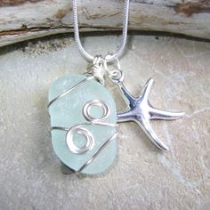 Handmade Seaglass Jewelry Seaglass Necklace by SeaglassDelights, $30.00