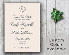 DIY Printable Wedding Save The Date PDF  by MyPrintableCreations