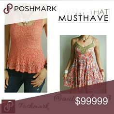 Urban Outfitters Pins and Needles Tank Gorgeous pinkish/orange coloring!! Both this item and the dress are for sale in my closet though!! 15% discount on all bundles!! Let me know if you have any questions!  Urban Outfitters Tops