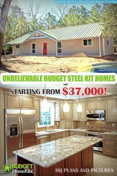 Unbelievable Budget Steel Kit Homes Starting From $37k! Building a home has never been this affordable. With just $37,000 you can now own a home that you can call your own. Yes, these amazing steel kit homes are just the right property for you. #metalhousing #metalhouse #Metalbuildinghomes #housingsolution #SteelKitHomes Barn Homes Floor Plans, Metal House Plans, A Frame House Plans, Pole Barn House Plans, Pole Barn Homes, Pole Barn Home Kits, Barn Home Plans, Garage Plans, Metal Building Kits