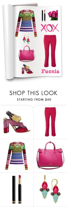 """Fucsia"" by mmarky ❤ liked on Polyvore featuring Etro, Gucci, GALA, Burberry and ABS by Allen Schwartz"