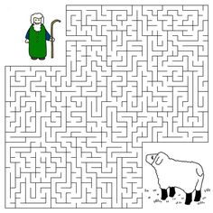 Good Shepherd and the Lost Sheep Maze