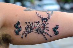 """Rendition of Frida Kahlo's """"The Wounded Deer"""" by Alejandro G. Laureano in Portland, OR. instagram: @alejvndrogl www.alejvndrogl.com"""