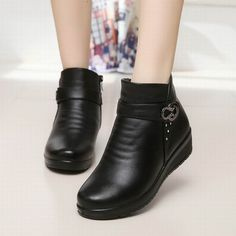 ZZPOHE Autumn winter fashion Women snow Boots elderly mother warm boots female boots thick shoes flat comfortable old shoes 41 Shoes Boots Ankle, Fringe Ankle Boots, Women's Boots, Comfortable Ankle Boots, Warm Boots, Autumn Boots, Old Shoes, Fashionable Snow Boots, Winter Mode