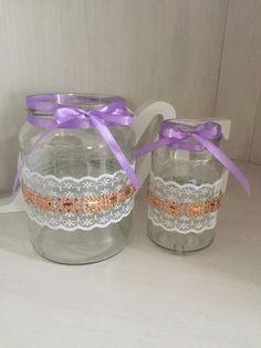 Hochzeitsdeko Hochzeit Kupfer Flieder Vintage Teelicht Spitze Ein Designerstuck Von Dekolicious Upcycling Bei Dawanda Teelichter Hochzeit Teelichthalter