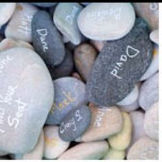 I want to have everyone sign a rock to put in our candle holder as a reminder of all the wonderful friends we have!