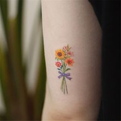 20+ Colorful Flower Tattoos Design - chicbetter
