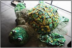 The Washed Ashore Project, based in Banyon, OR. Art exhibits made solely trash washed ashore from the ocean. Beautiful art with a message. Now at the Chula Vista Nature Center.....