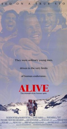 Directed by Frank Marshall. With Ethan Hawke, Vincent Spano, Josh Hamilton, Bruce Ramsay. A Uruguayan rugby team stranded in the snow swept Andes are forced to use desperate measures to survive after a plane crash. Cinema Film, Cinema Posters, Film Movie, Movie Posters, Film Poster, 1990s Movies, Old Movies, Great Movies, Brazil