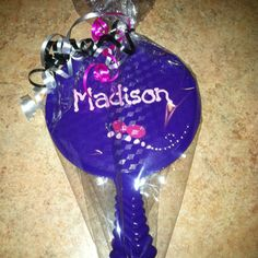 Personalized hand mirrors for spa party favors