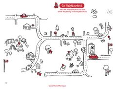 Neighbourhood Faces and Places Game. Visit www.MisforMoney.ca for free downloads and to purchase books, ebooks, fun stuff and a catchy jingle! #misformoney