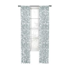 Style Selections Quinby 84 In L Floral Mist Back Tab Sheer Curtain