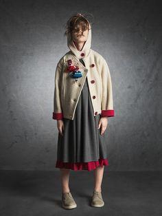 Katrina Tang Photography for Xenia Joost design AW 14 kids fashion. Studio shoot with a girl wearing a dress #katrinatang #tangkatrina