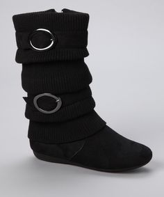 Look at this #zulilyfind! Lucky Top Black Bank Boot by Lucky Top #zulilyfinds