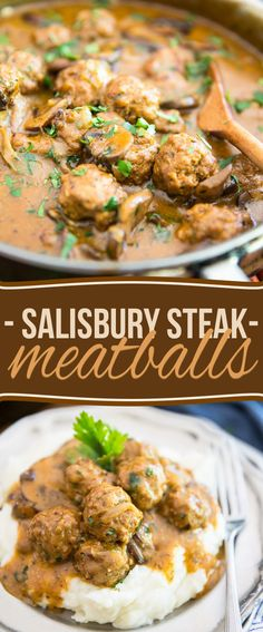 These Salisbury Steak Meatballs are just as good as the great classic we all know and love, only in a super cute mini meatball version.