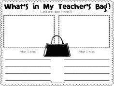 A cute inferencing activity using items in your bag/purse for the students to make inferences about you.